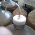 Гидрозатвор из капельницы